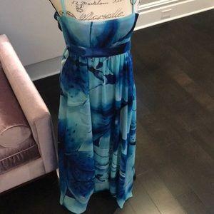 White House Black Market long maxi dress.